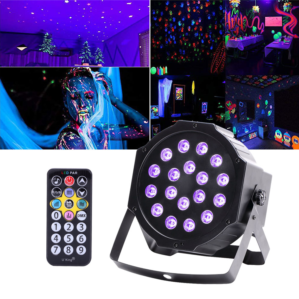 54w 18 Led Uv Black Light Dmx Par Stage Lighting Disco