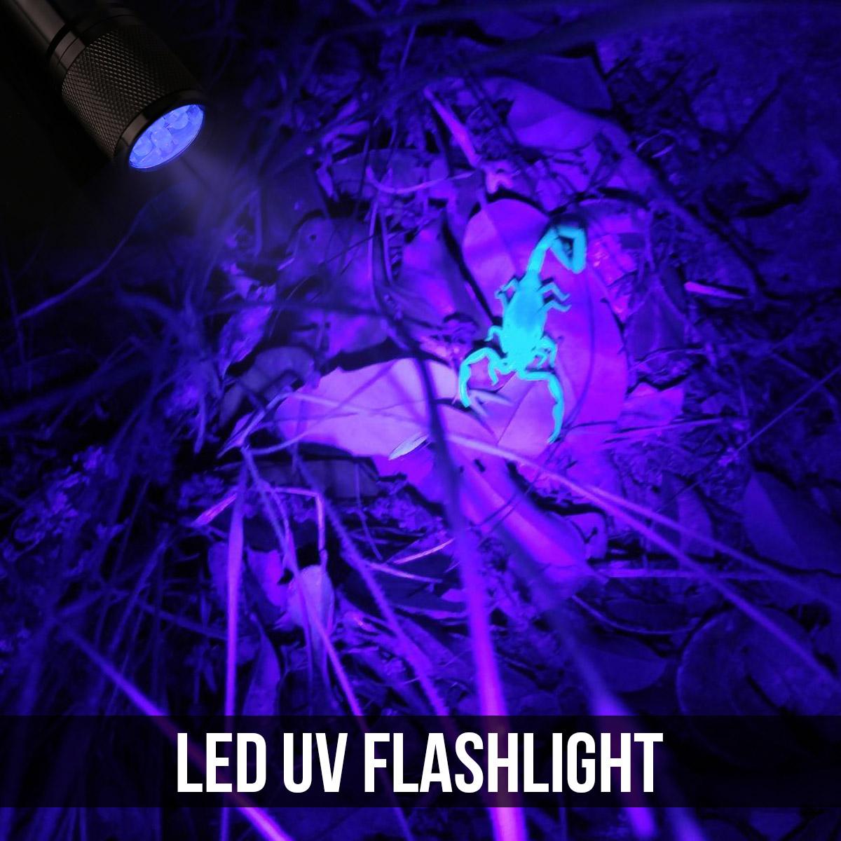 le 9 leds 395nm uv led schwarzlicht taschenlampe handlampe. Black Bedroom Furniture Sets. Home Design Ideas