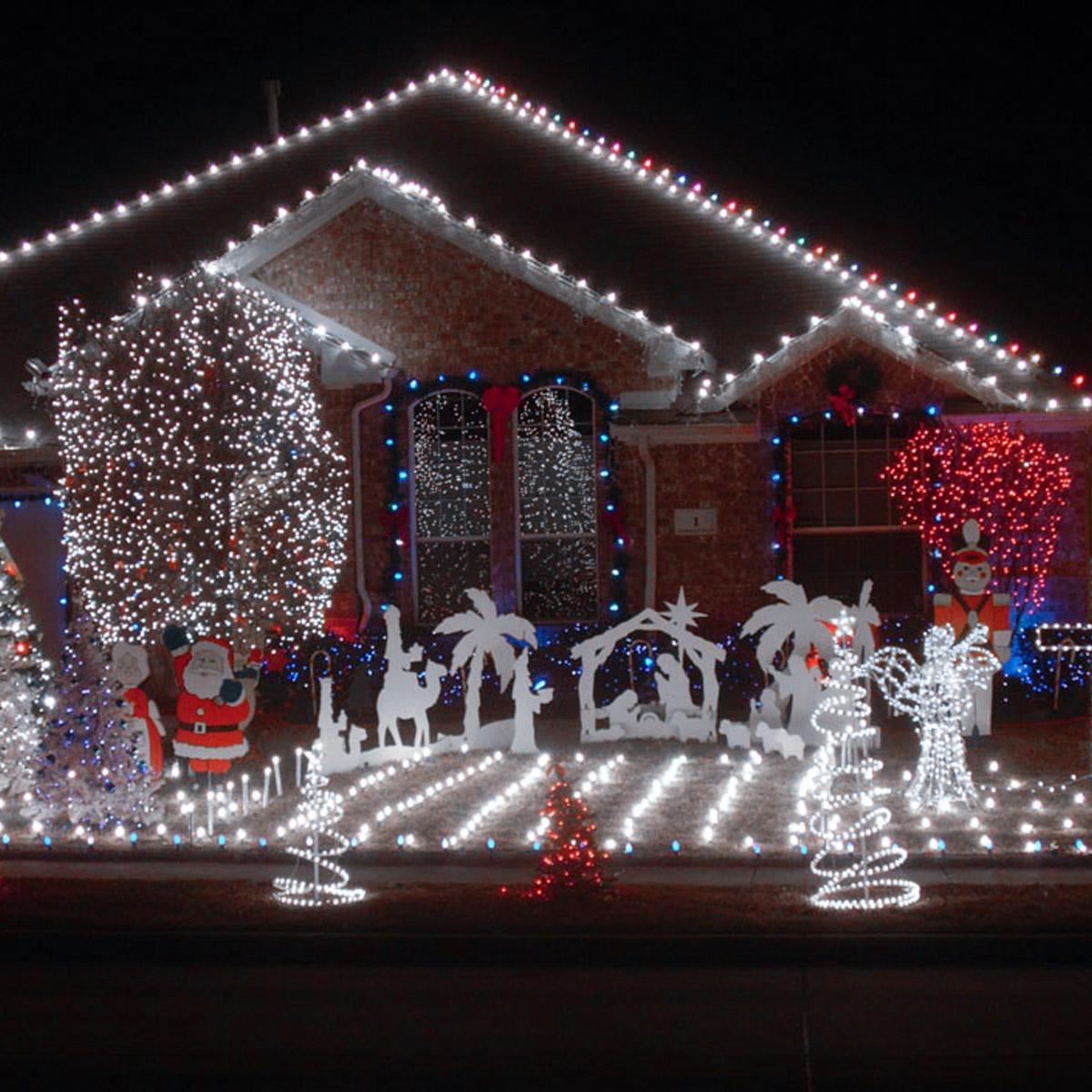 LED Lichterschlauch, 10M 120er LEDs, Außen Weihnachten Deko ...
