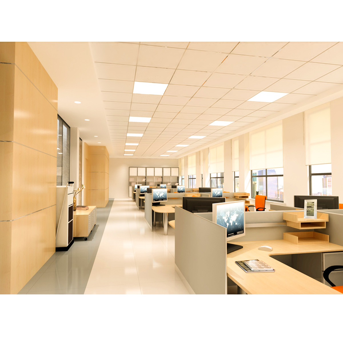 36w Dimmable Led Ceiling Down Light Bathroom Fitting: 2x 36W LED Recessed Light Panel Ceiling Down Light Ultra