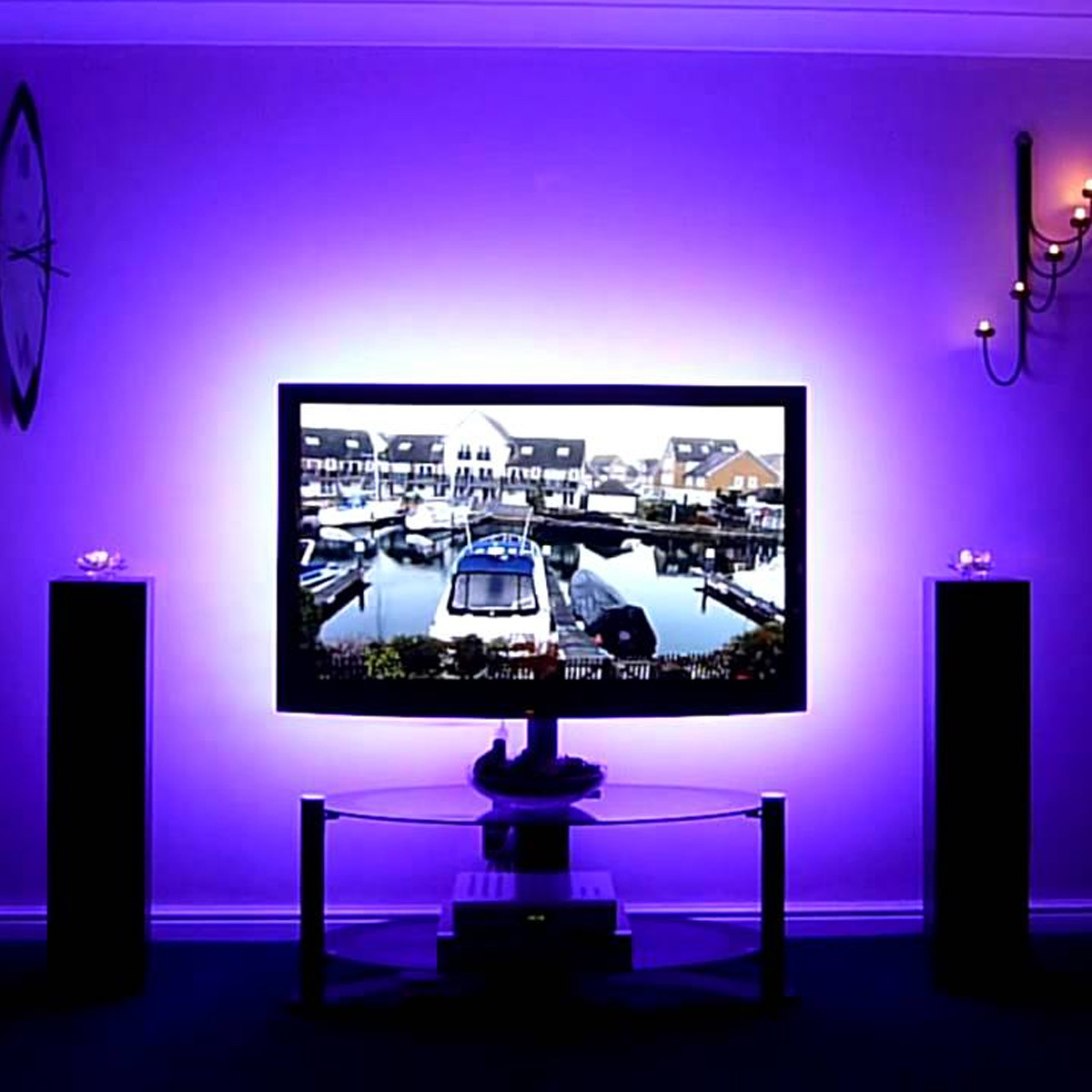2x Led Tv Usb Backlight Kit Rgb Light Strip Computer Tv Background