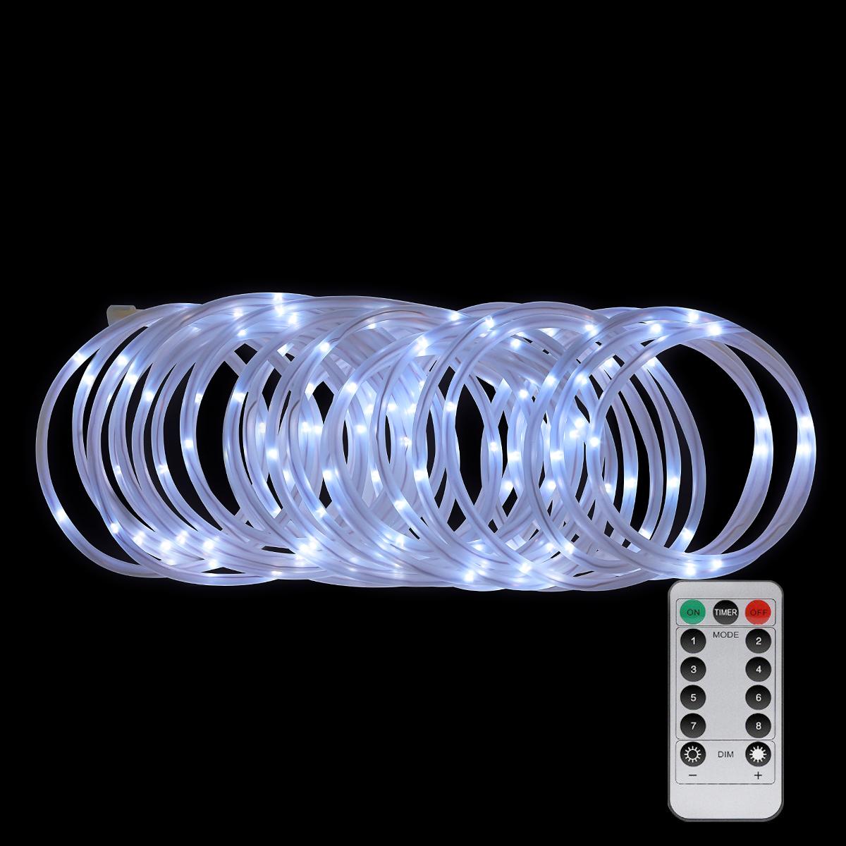 2x 10m led lichterschlauch lichterkette 8modi innen au en lichtschlauch kaltwei ebay. Black Bedroom Furniture Sets. Home Design Ideas