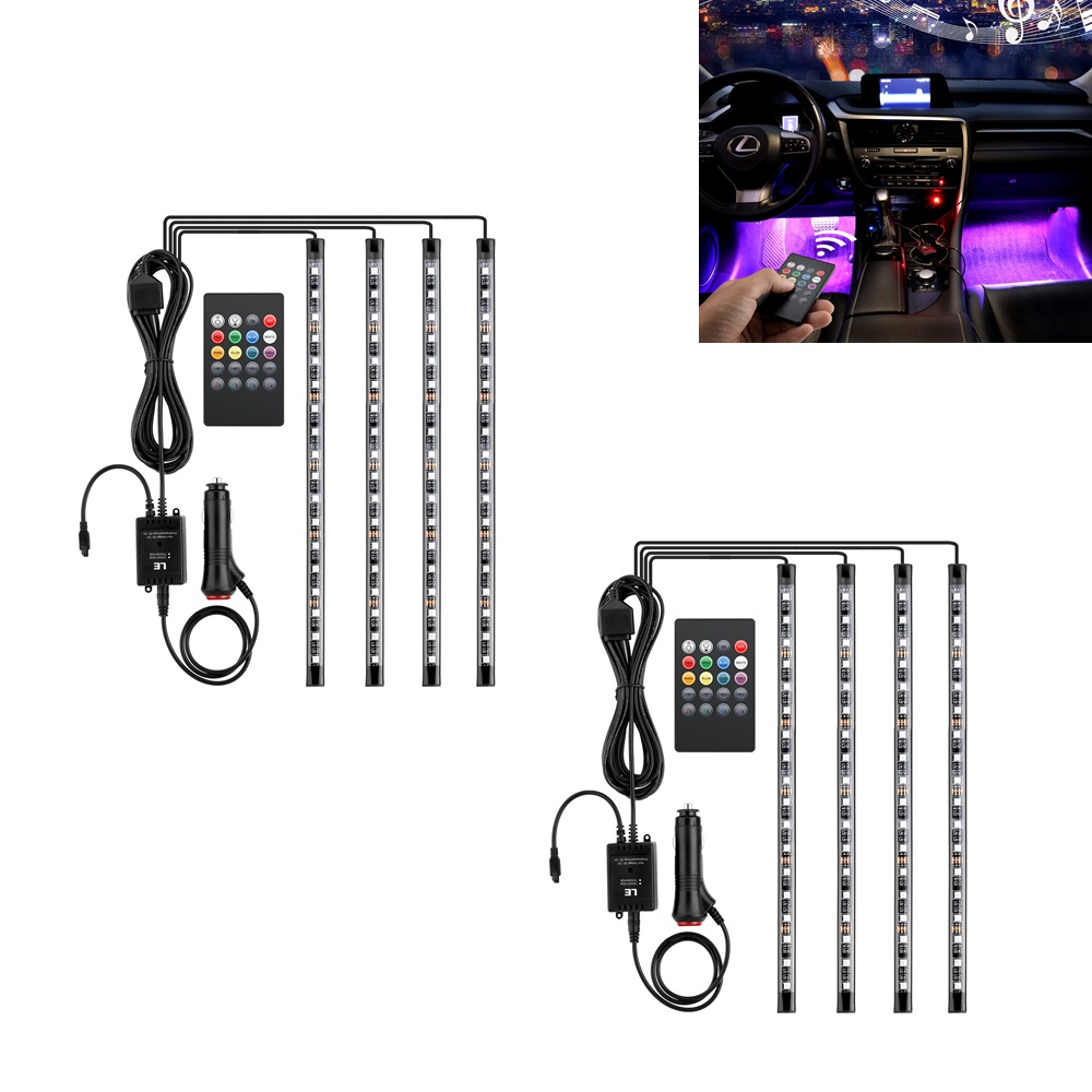 le 8er rgb led auto innenbeleuchtung fu raumbeleuchtung. Black Bedroom Furniture Sets. Home Design Ideas
