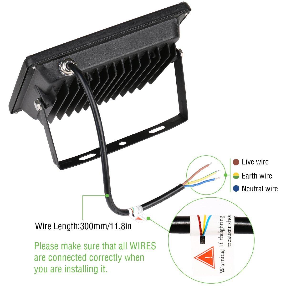 20W LED Flood Light Landscape Outdoor Lamp Spotlight IP66 Warm White ...