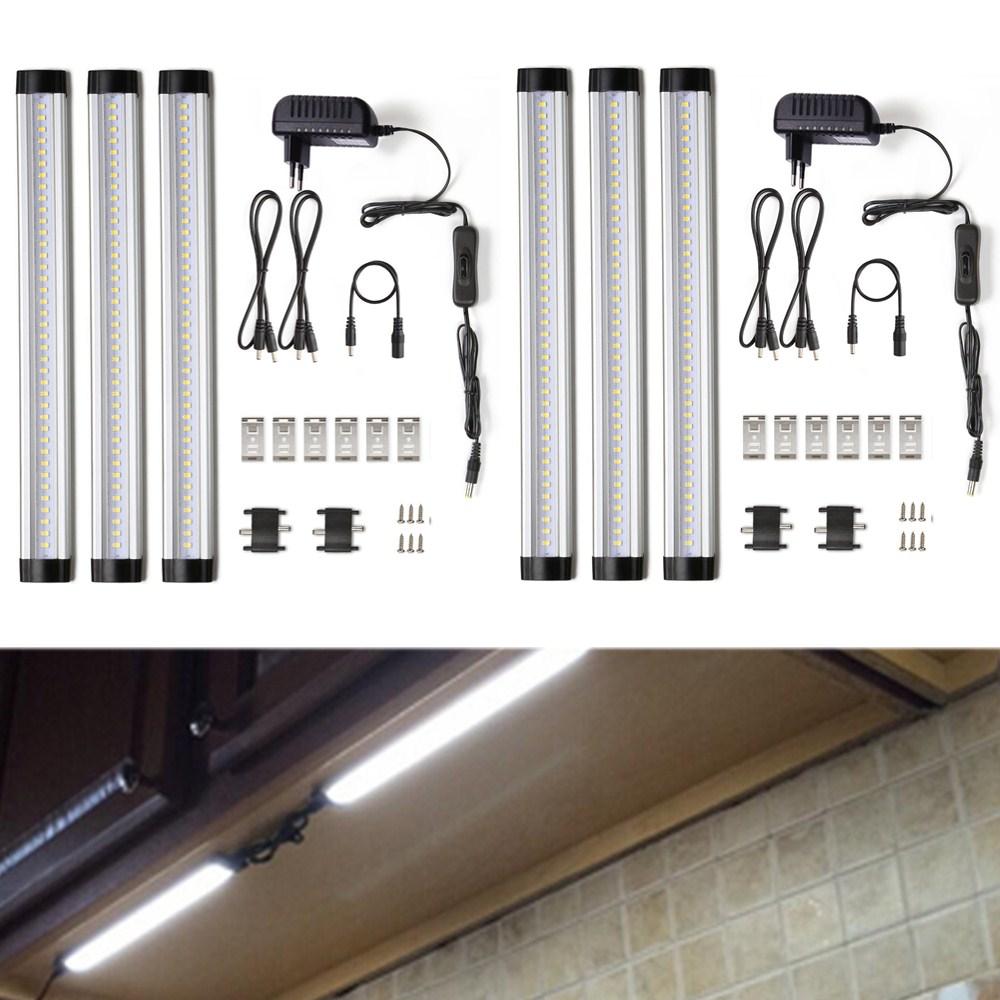 6er Set 4W 117 LED Unterbauleuchte Schrankleuchte Küchenlampe ...