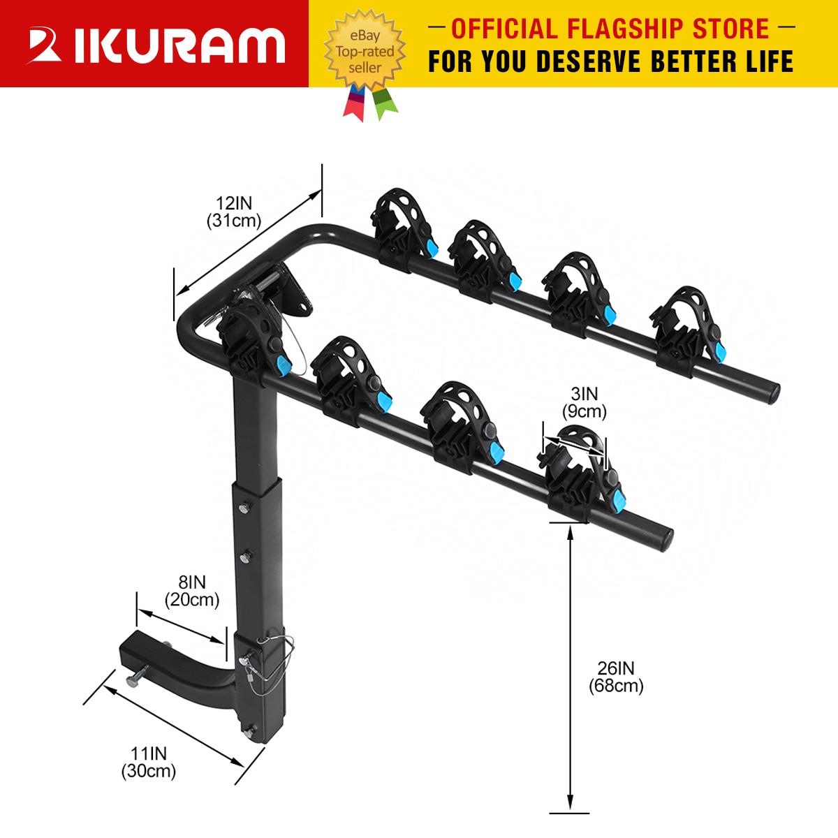 Ikuram 3 Bike Bicycle Rack Carrier 2 Quot Hitch Mount Rack Car