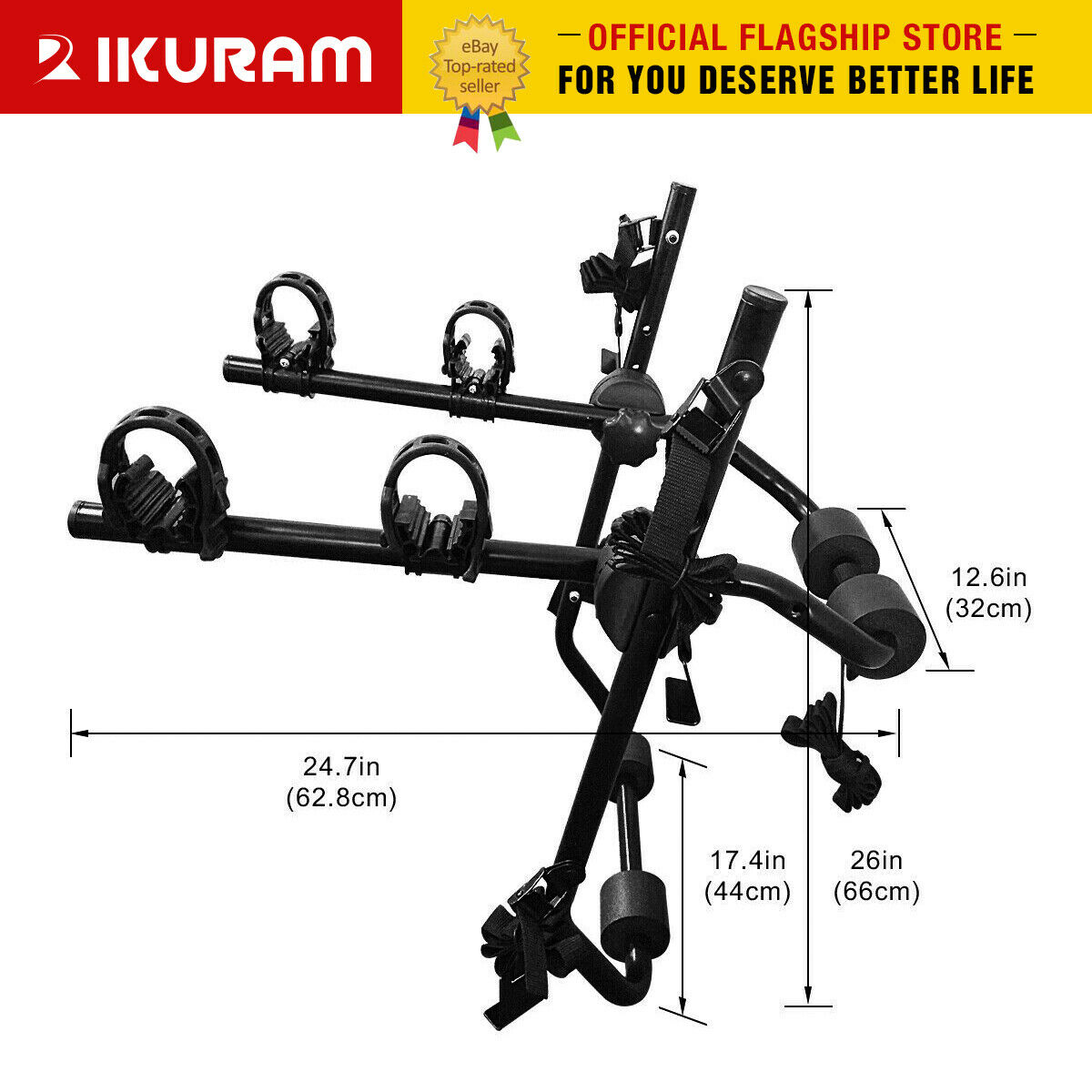 IKURAM 1-5 Bike Bicycle Floor Parking Rack Storage Stand Mount Holder Adjustable
