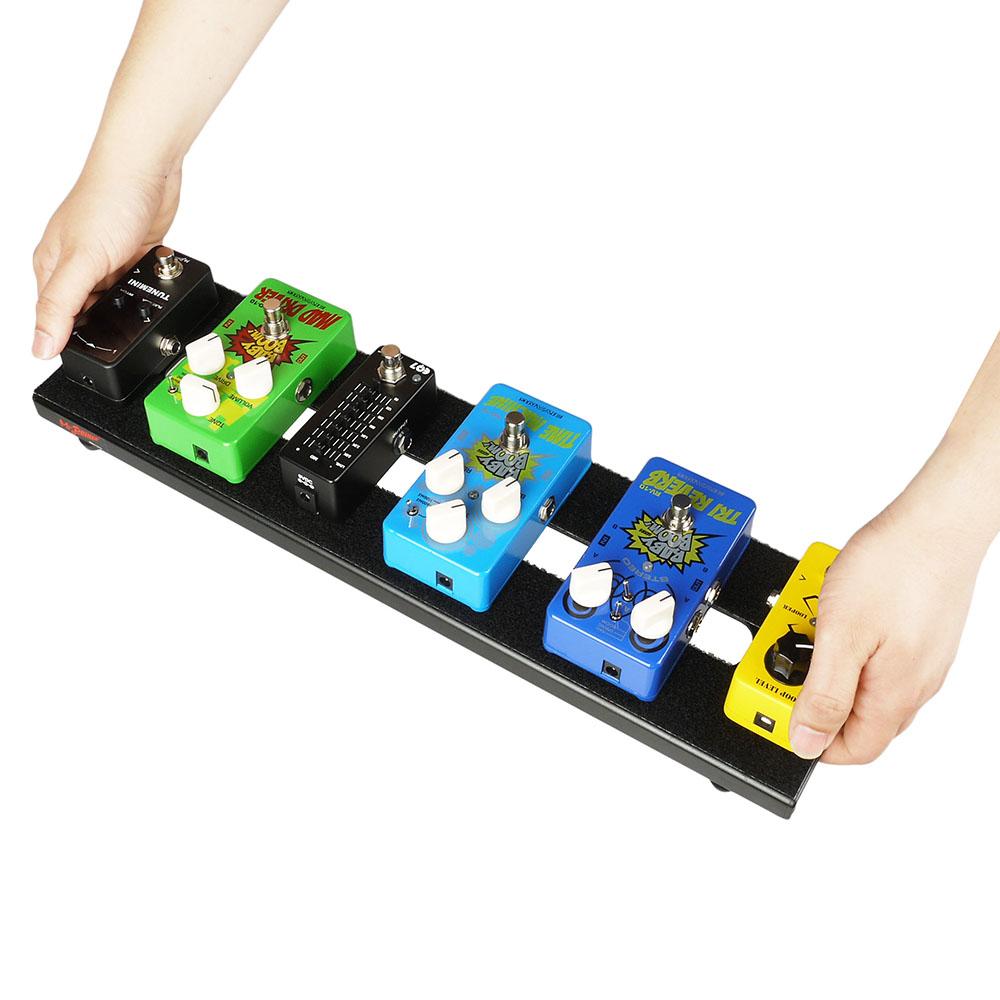 aluminum guitar effects pedal board pedalboard setup kits carry bag ebay. Black Bedroom Furniture Sets. Home Design Ideas