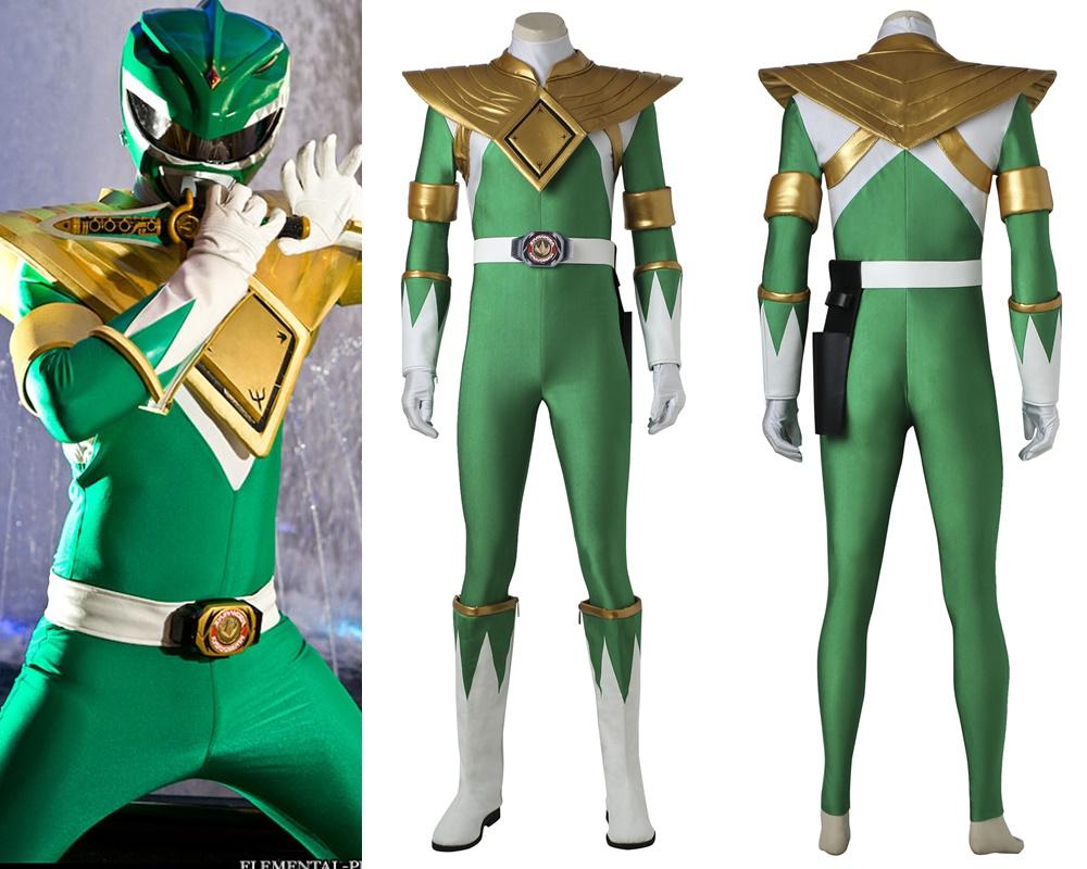 Mighty Morphin Power Rangers Green Dragon Ranger Cosplay Costume ...