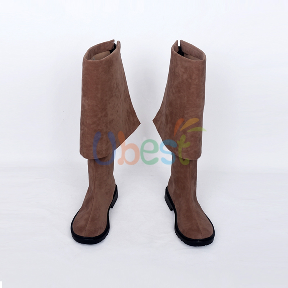 Pirates of the Caribbean Jack Sparrow Brown Boots Cosplay Shoes Customized Size