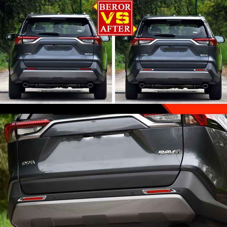 Fit Toyota Sienna 2017 Back Rear Fog Light Lamp Cover Moulding Trim Chrome ABS