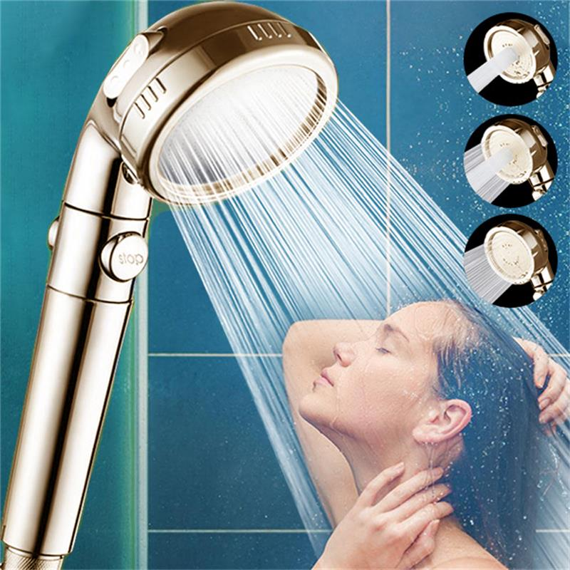 3 In 1 High Pressure Shower Head Showerhead Handheld with 3-Setting ON//Off Pause