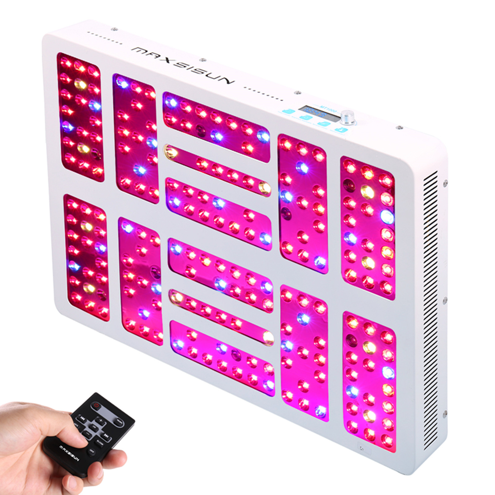 Details about MAXSISUN Timer Control 1000W LED Grow Light Panel for Indoor  Hydro Veg Flowering