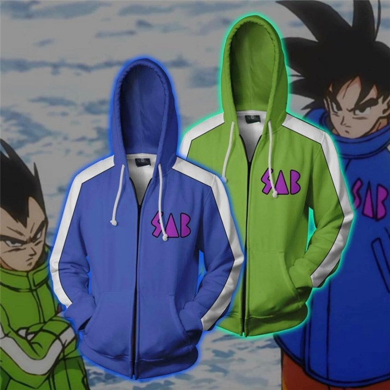 Dragon Ball Z Super Goku Vegeta 3D Print Hoodie Sweatshirt Zipper Jacket Coat