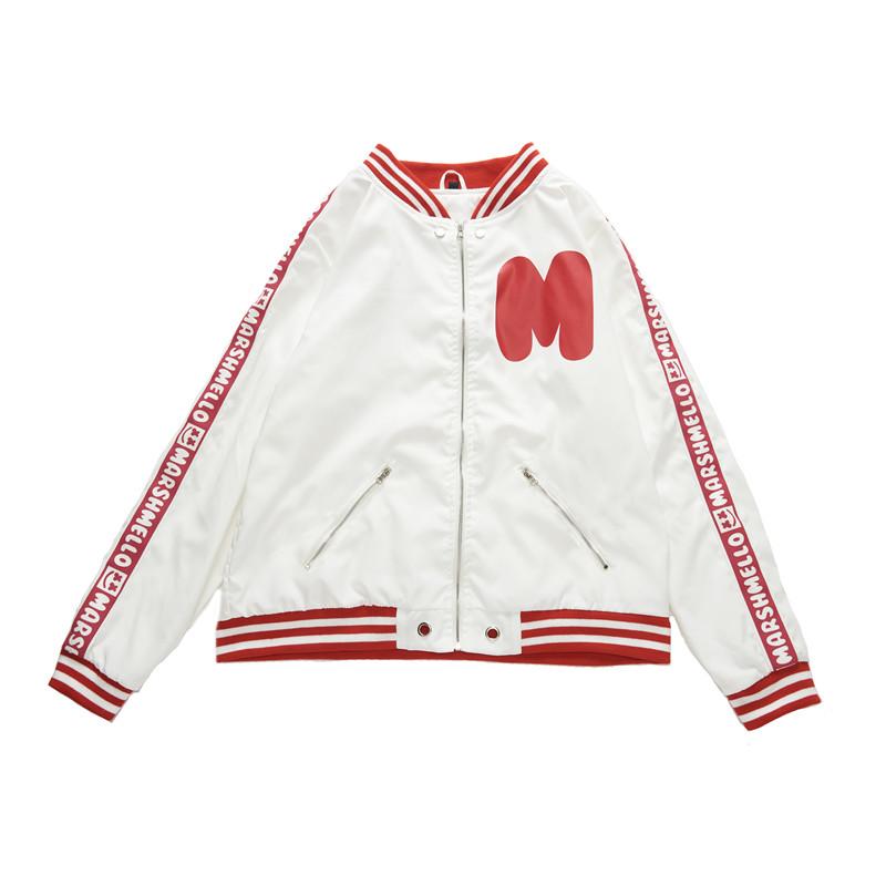 c98bb9e17c8d3 DJ Marshmello Men Baseball Jacket FRIENDS MELLOW Music Zip Coat COS ...