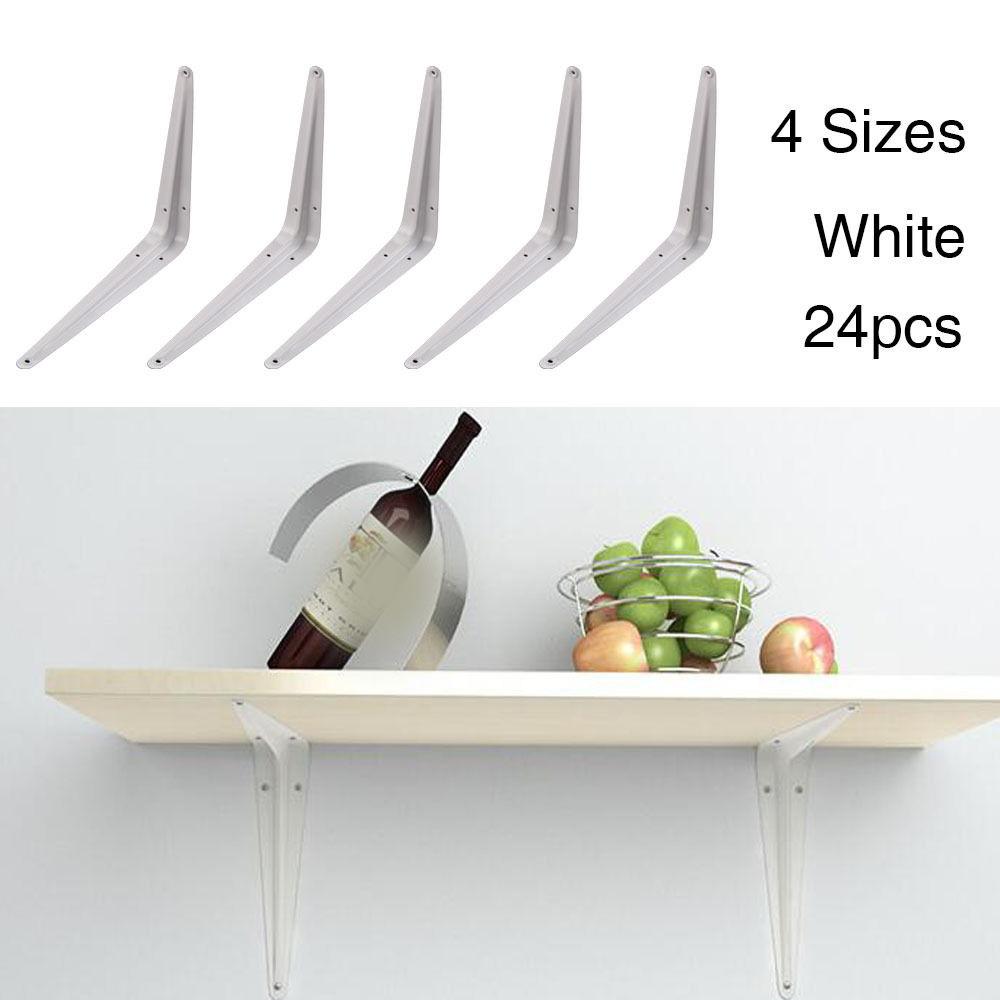 20x London White Metal Shelf Shelving Support Wall Mount Brackets 7 Sizes