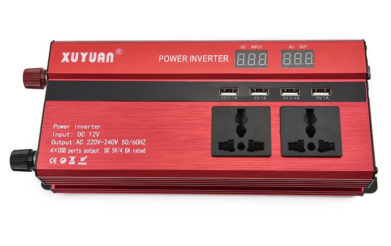 4000w Pure Sine Wave Power Inverter 12v To 220v Converter