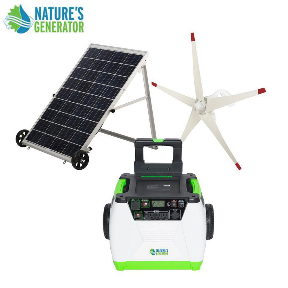 Details about Nature's Generator 1800W Solar & Wind Powered Generator -  GOLD-WE System