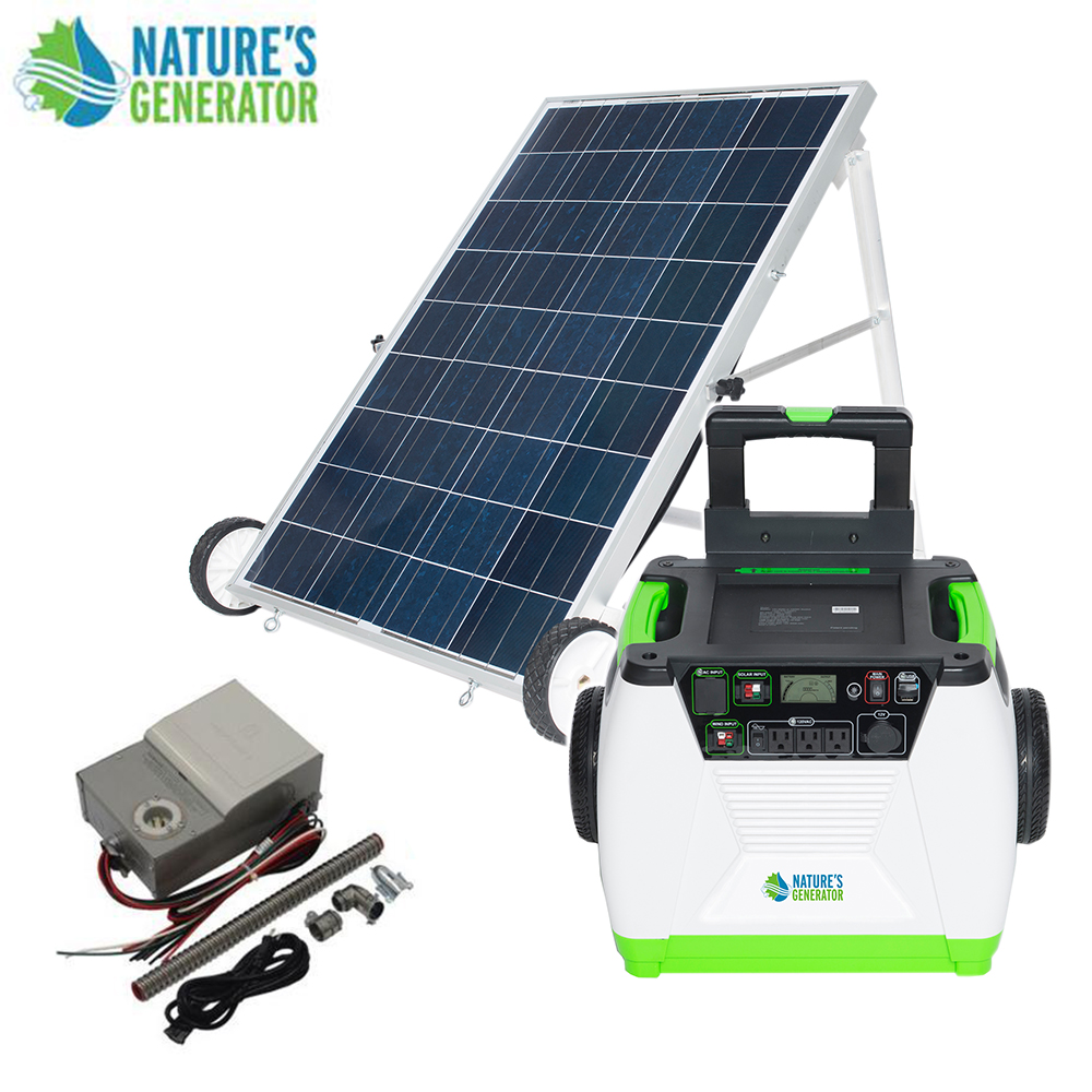 Details about Nature's Generator 1800W Solar & Wind Powered Generator -  GOLD-PE System