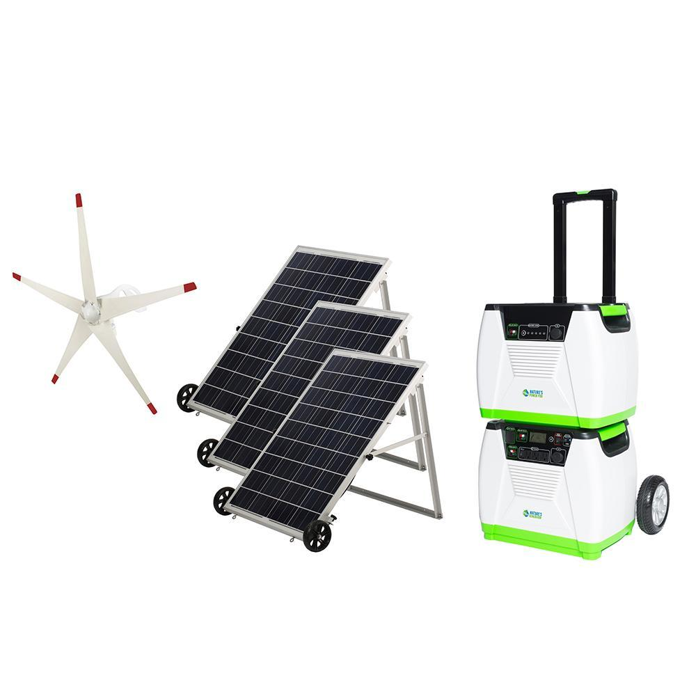 Details about Nature's Generator 1800W Solar & Wind Powered Generator -  PLATINUM-WE System
