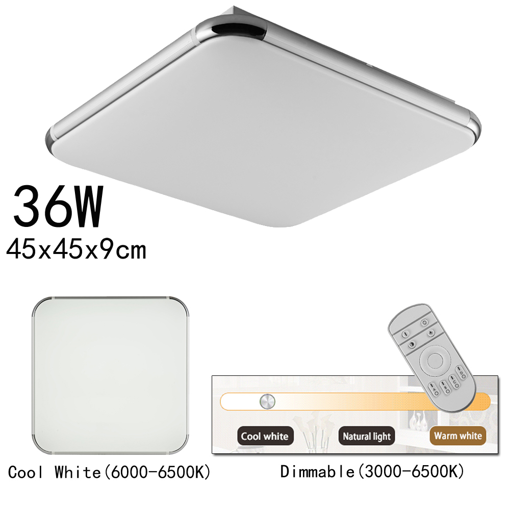 Dimmable LED Ceiling Light Ultra Thin Flush Mount Kitchen