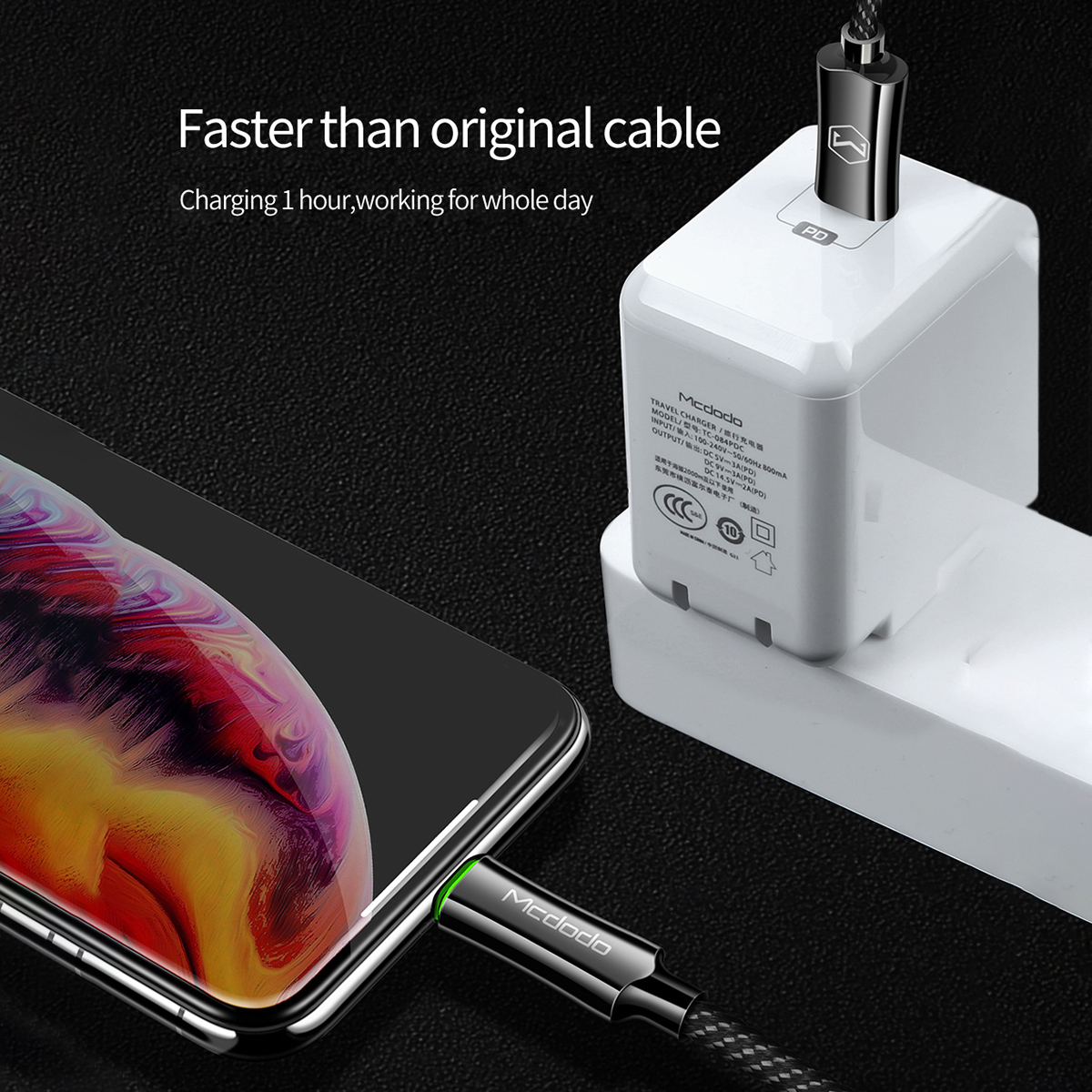 Auto Disconnect Usb C Type C To Lightning Pd Fast Charging