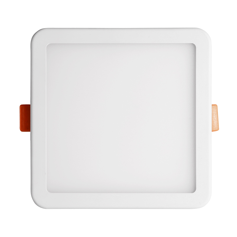 10X 6W Ultraslim LED Panel Einbaustrahler Aufputz Deckenleuchte Quadrat Weiß