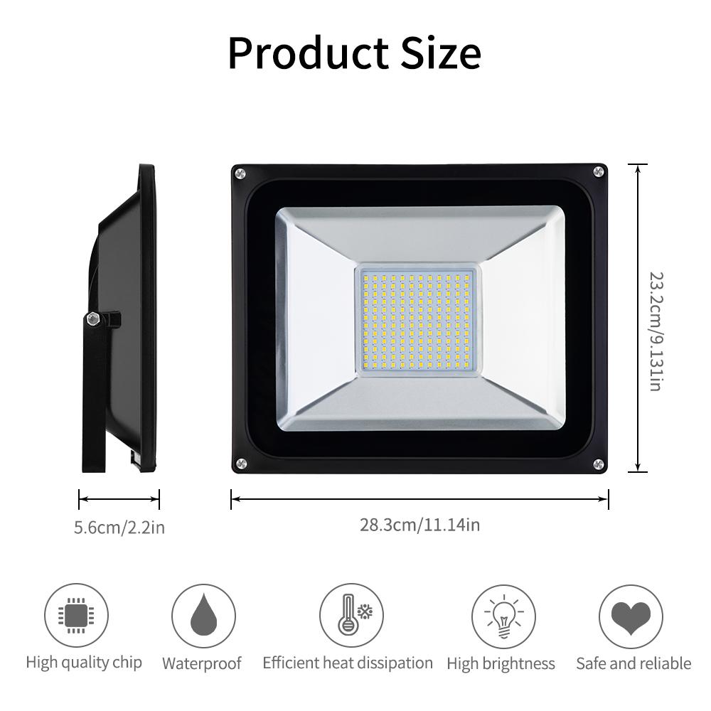 Led Flood Light Keeps Flickering: 10Pcs 100W LED Flood Light 2835SMD Warm White Outdoor Safe