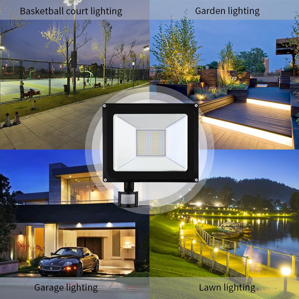 Led Flood Light Keeps Flickering: 8Pcs 100W LED Sensor Flood Light Warm White Outdoor Safe