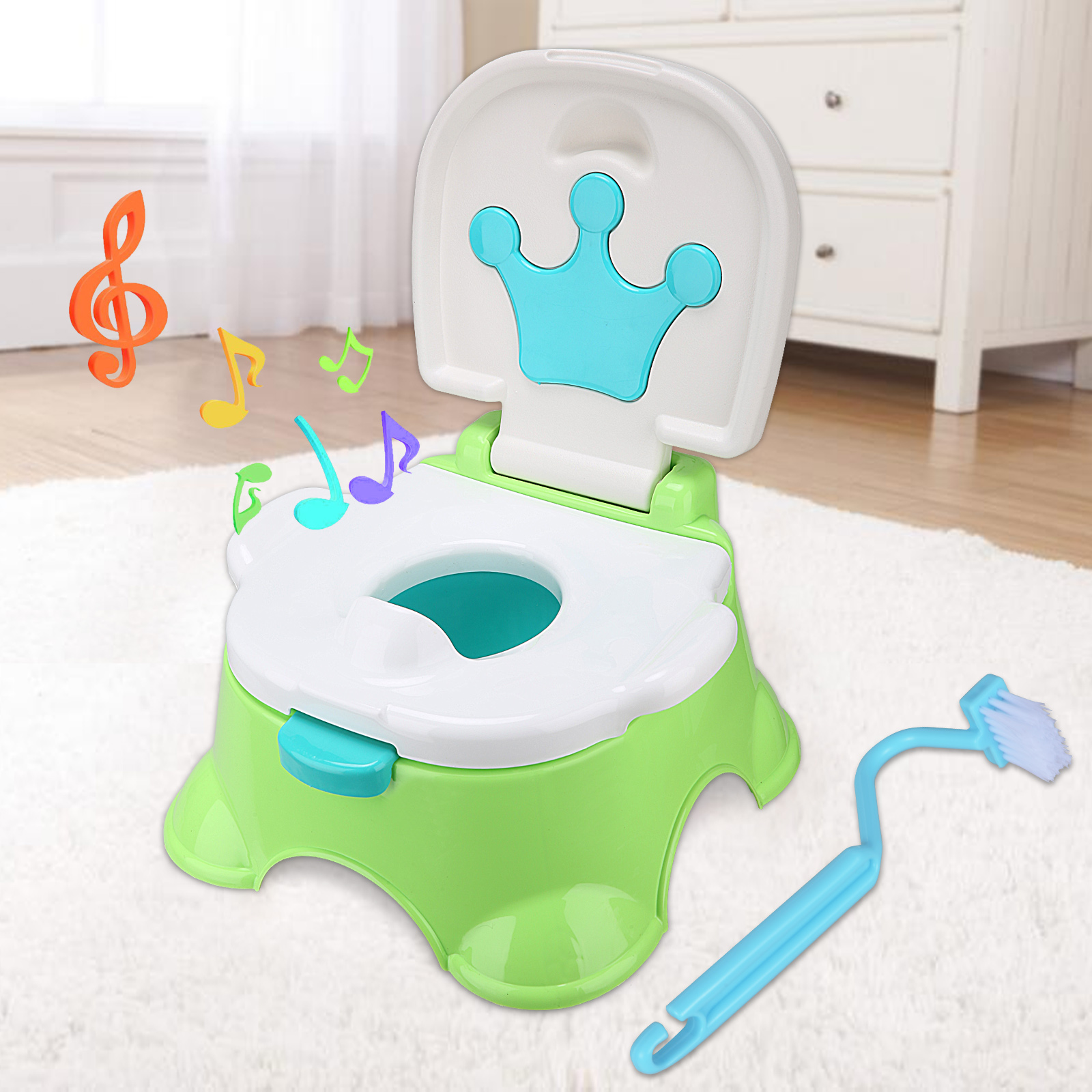 Kids Child Training Toilet 3 in 1 Baby Toddler Music Potty Trainer ...