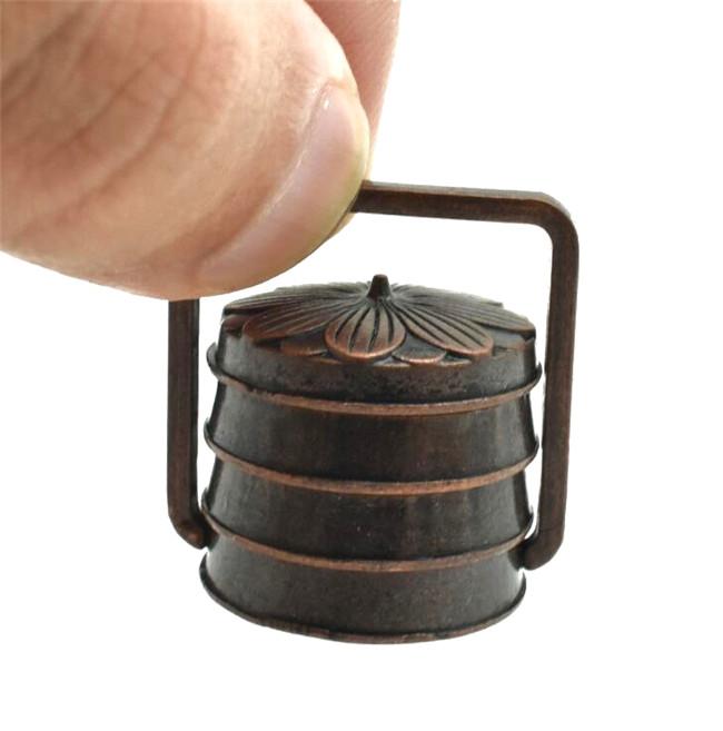 Dollhouse Miniature 1:12 Scale Retro Copper Electric Fan Fairy Home Furniture ♫