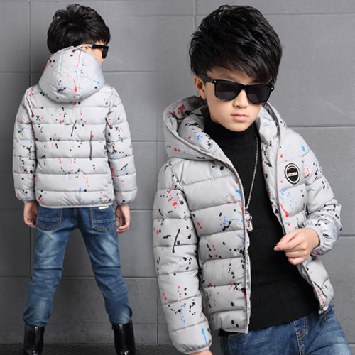 4-14Y-Kids-Boys-Cotton-Quilted-Padded-Jacket-Puffer-Coat-Hooded-Parka-snowsuits thumbnail 16