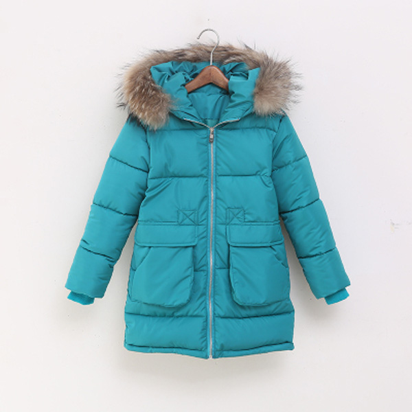 54e8950cc Kids Girls Padded Coat Puffer Down Jacket Warm Fur Winter Outerwear ...