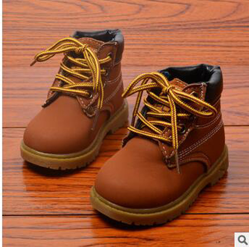 Kids-boys-girls-lace-up-ankle-boots-infants-walking-hiking-combat-baby-shoes-30