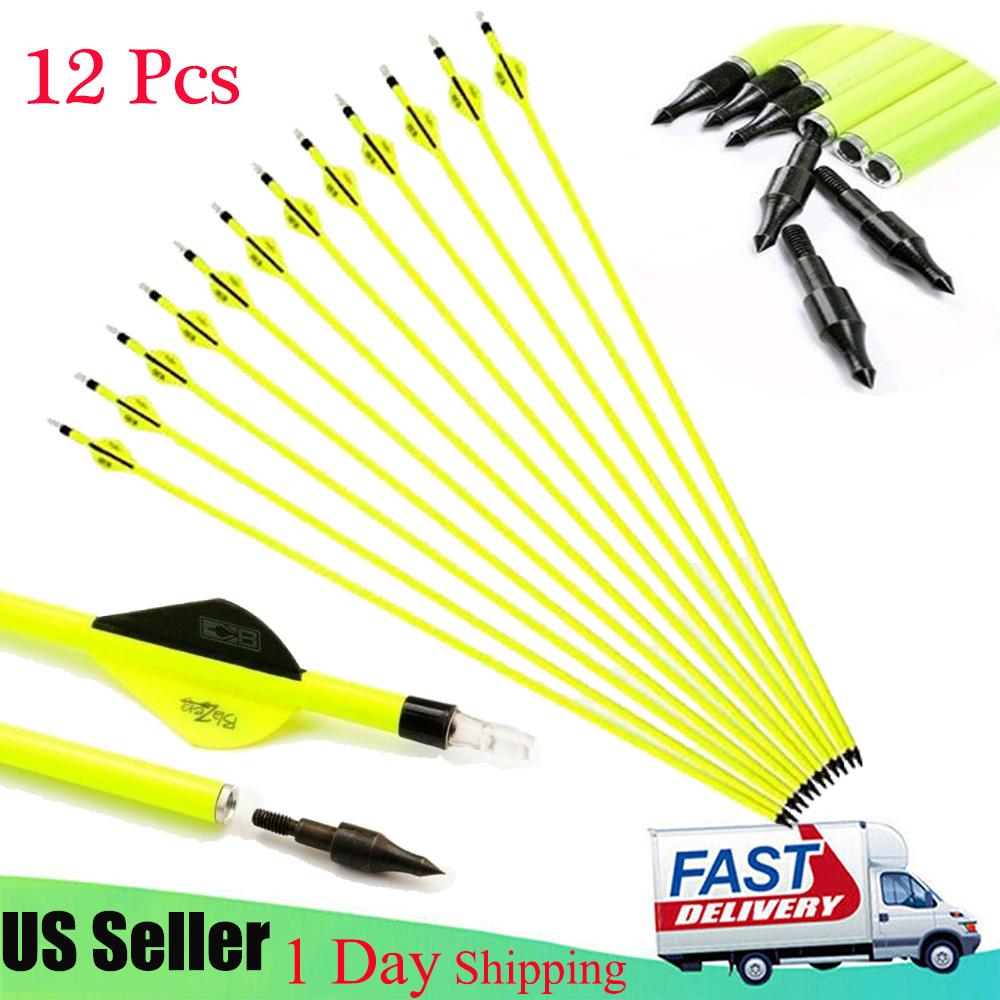 """Details about  /12x 30/"""" Carbon Arrows Archery Hunting Target Arrows SP500 Recurve//Compound Bows"""