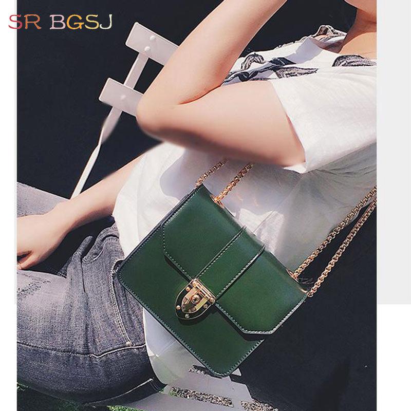 Fashion Vintage Woman Girl Leather Shoulder Satchel PU Handbag Flap Bag