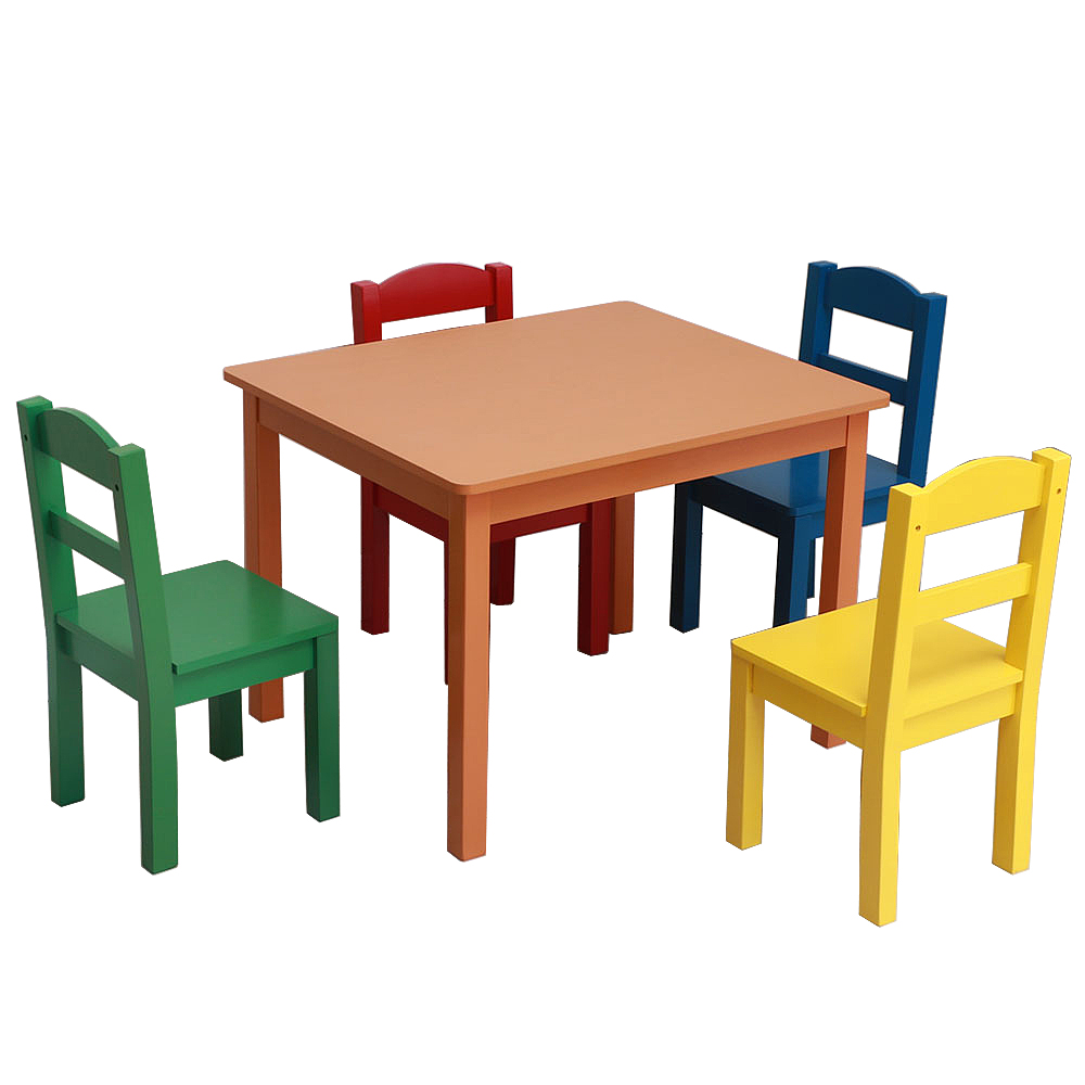5ecdc75c3393 Details about Kids Table and 4 Chairs Sets Multi Colored Toddler Child Play  Activity Furniture
