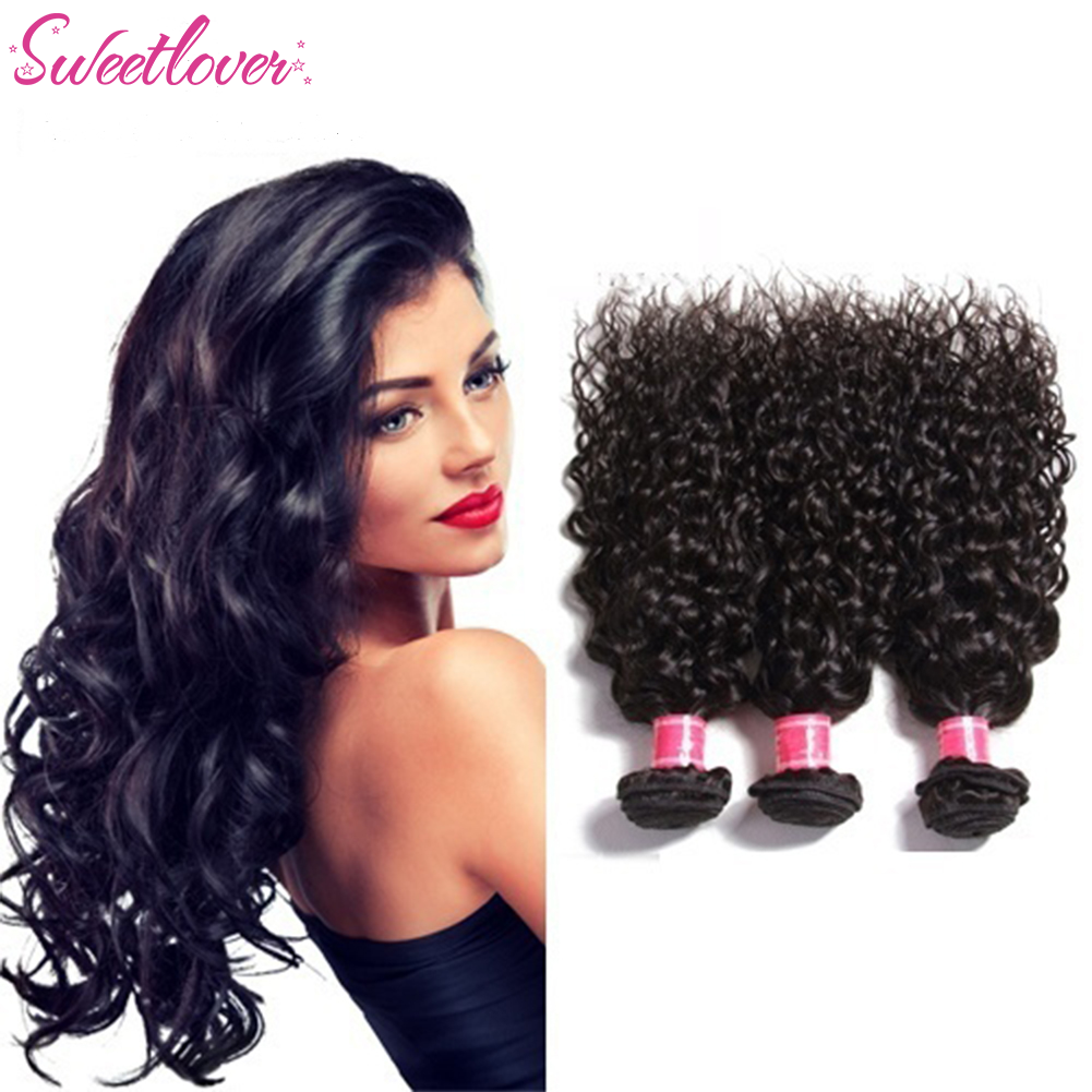 Women Brazilian Water Wave Crochet Braid Deep Curly Natural Human