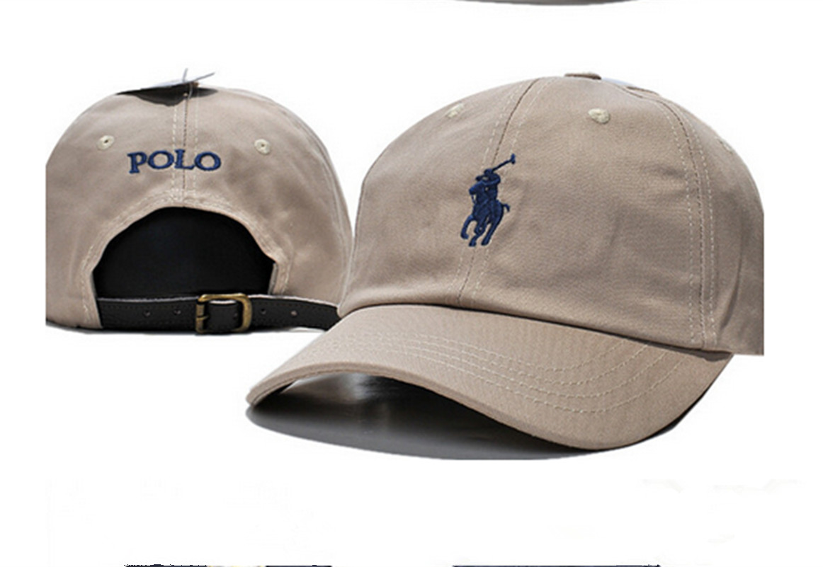 398b5165c0791 Pony Polo Adjustable Leather Strap Back Fine Embroidery Baseball Golf Hats  Cap