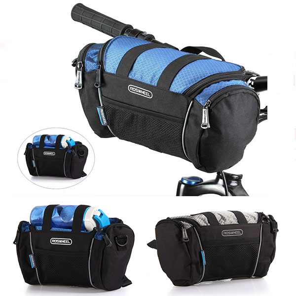Roswheel 5L Bike Handlebar Bag Bicycle Front Tube Pocket Shoulder Pack US