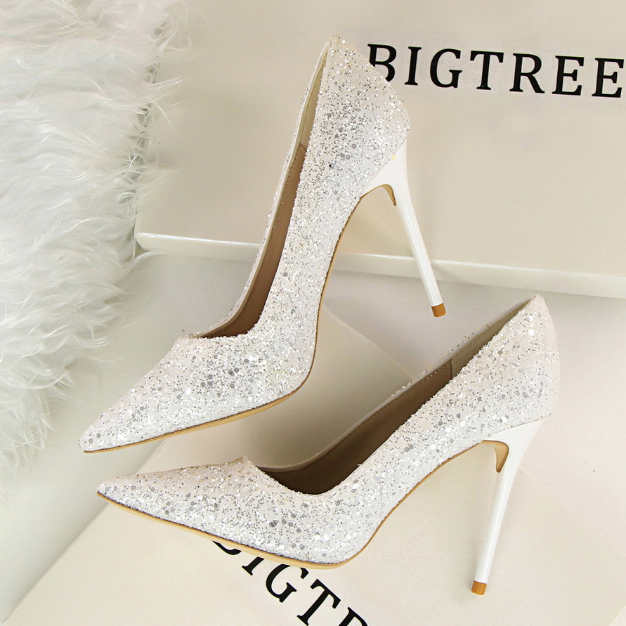 efa3cbf146a Sexy Women Party Shoes Stiletto Pointed-toe High Heels Bling Pumps ...