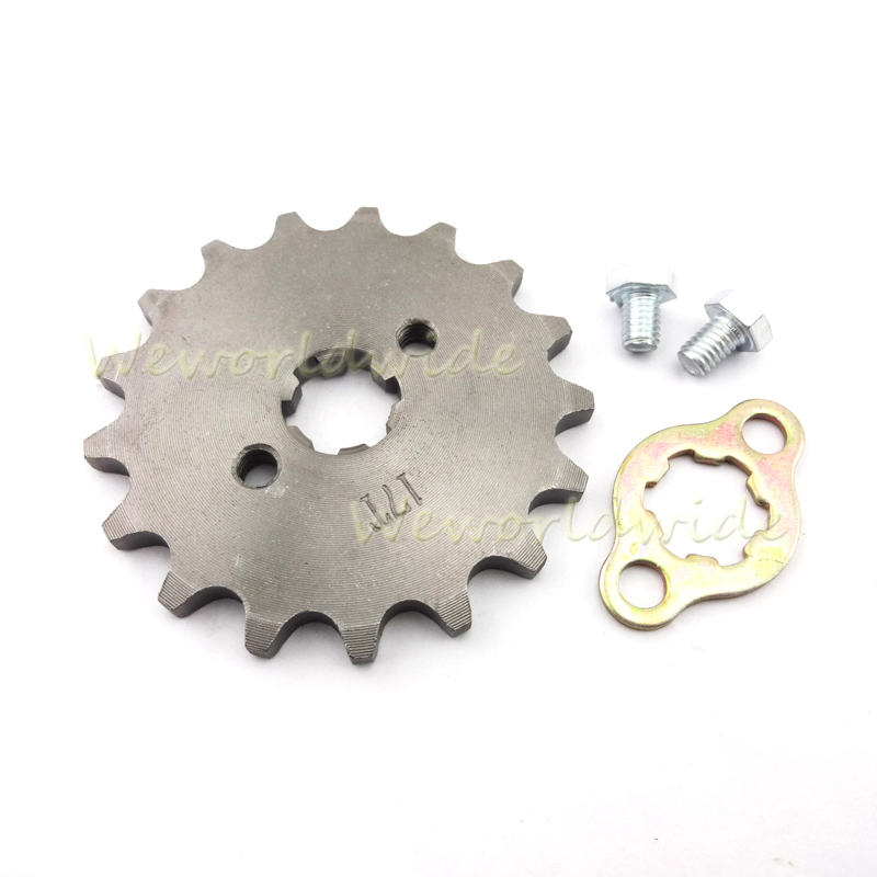 Pit Dirt Bike 420 16 Tooth 17mm ID Front Engine Sprocket For Chinese ATV Quad