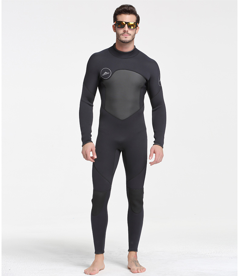 f092a4b5bf Details about 3MM Neoprene Mens Full Body Wetsuit Long Sleeve Zipper  Surfing Scuba Diving Suit