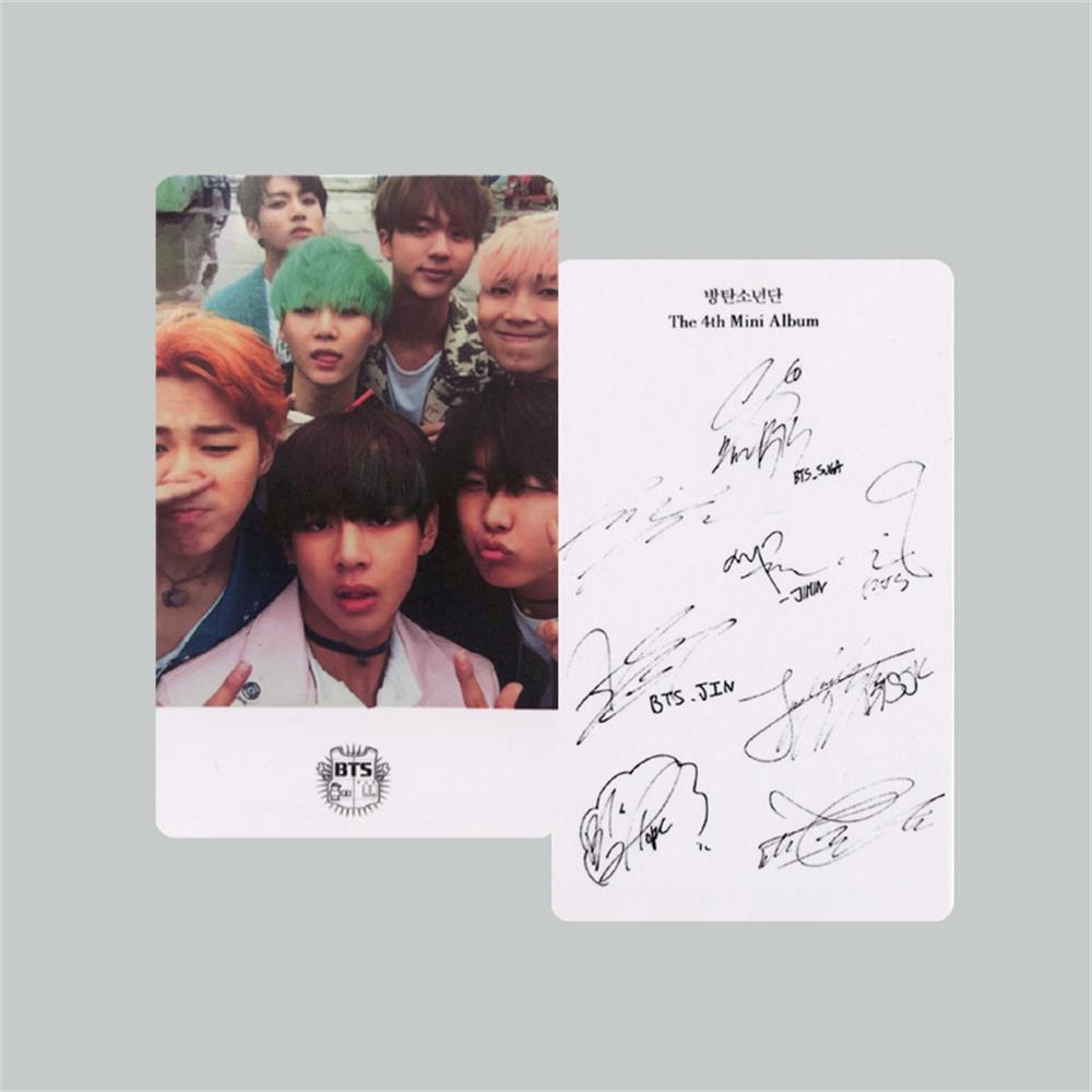 8PCS BTS BANGTAN BOYS Lomo Cards Signature Photocards JIN
