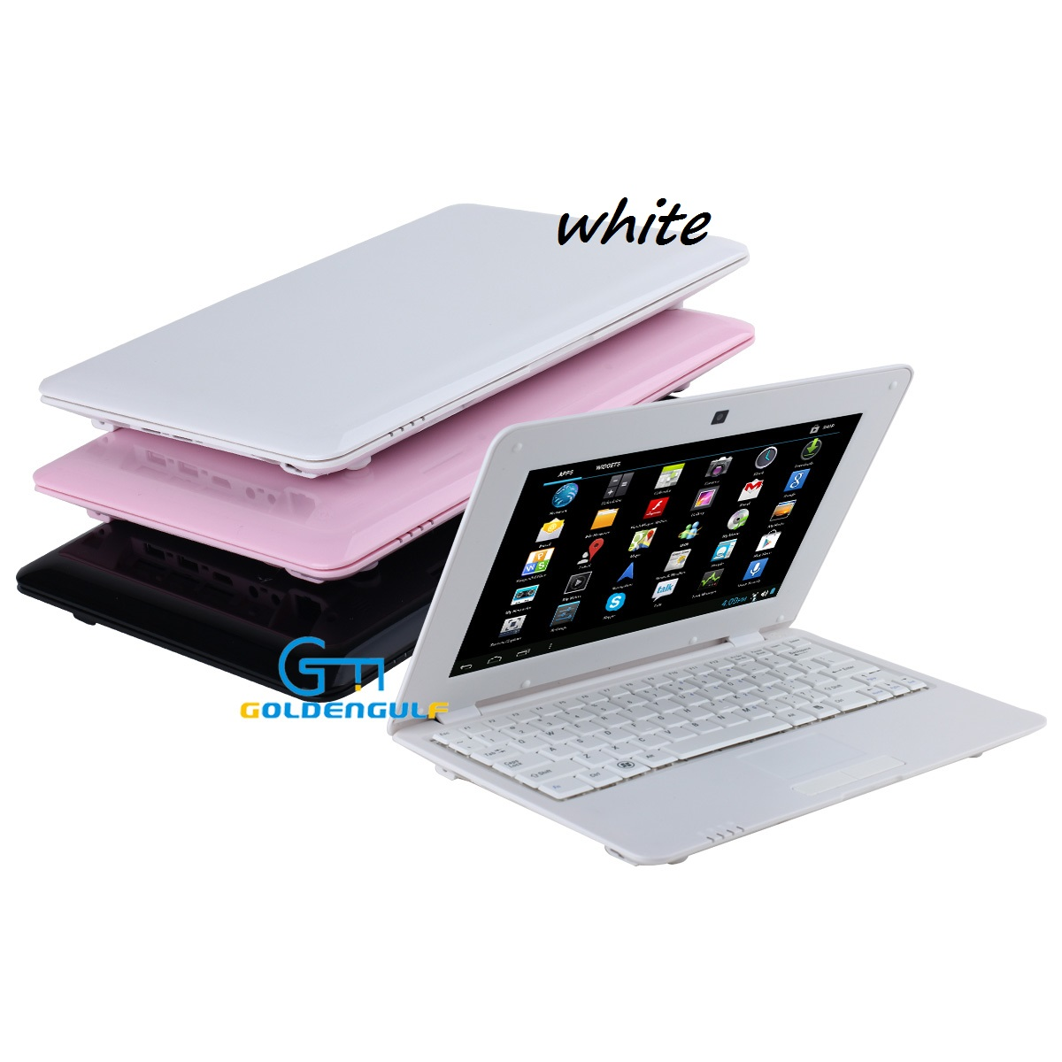 Details about 10 Inch White Mini Laptop Netbook Android Computer PC with  WIFI Mouse Camera
