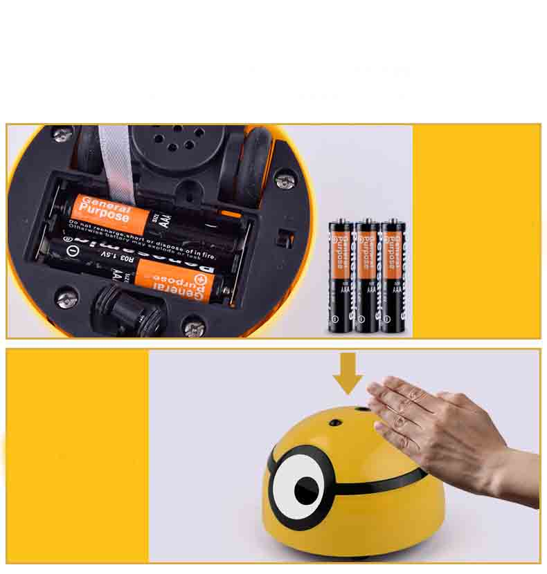 Runaway Mini Children Induction Minion RC Kids Infrared Magical Induction Toys