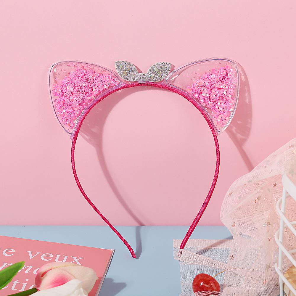 1PCS Baby Girls Cat Ear Headband Hair Band Acc Headwear Kids Cute Infant JB