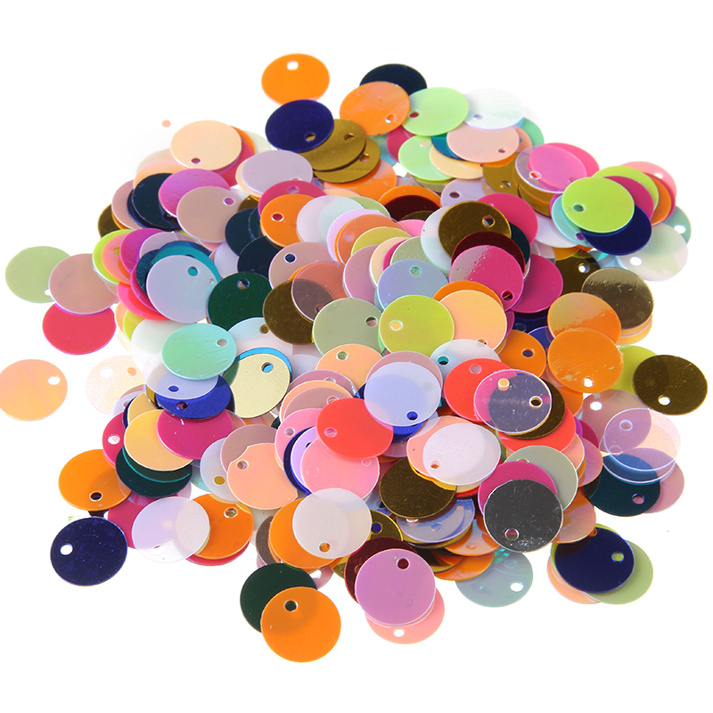 500PC Mixed Shiny Round Loose Sequins Paillettes Sewing DIY Craft For Clothes