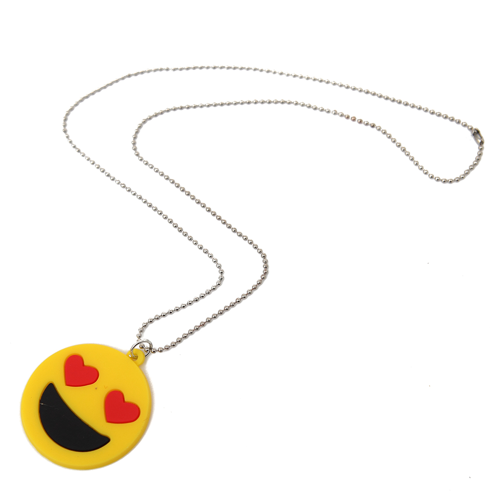 1 Drop Earring Pair /& 1 Rope Necklace of your choice! Emoji Jewelry Set