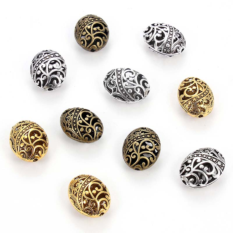 STERLING SILVER 4mm HOLLOW BEAD JEWELLERY MAKING PACK OF 10 WITH PATTERN